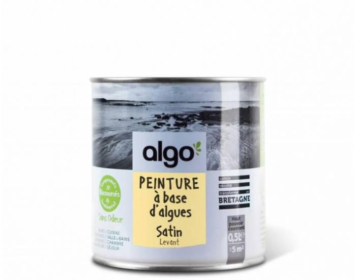 ALGO PAINT Peinture Biosourcée Décorative Jaune Finition Satin  (Levant) (1)