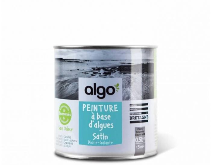ALGO PAINT Peinture Biosourcée Décorative Bleue Finition Satin (Marie Galante) (1)
