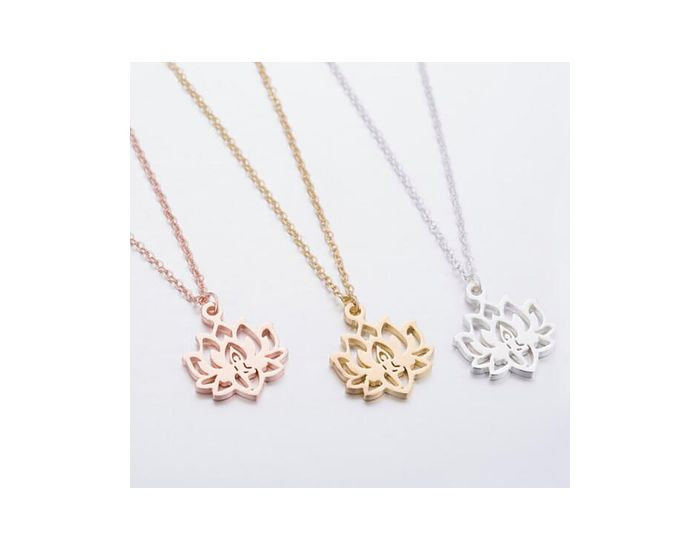 THE GOOD KARMA SHOP Collier Fleur de Lotus Sacré Argent Argent (1)