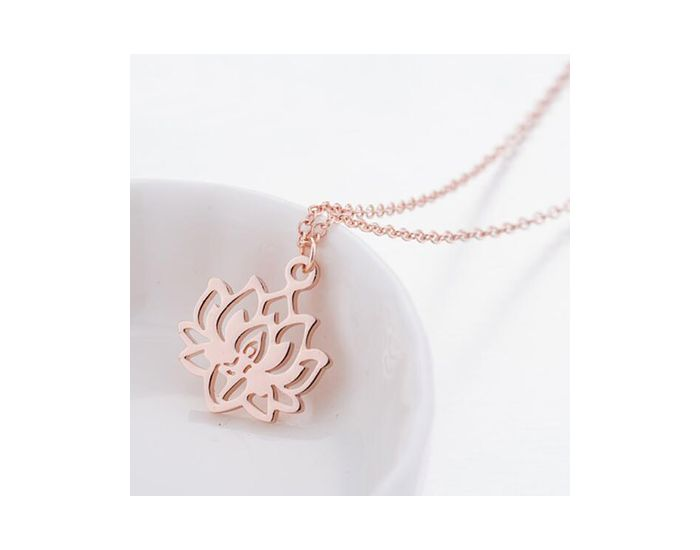 THE GOOD KARMA SHOP Collier Fleur de Lotus Sacré Argent Argent (2)