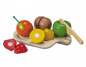 PLAN TOYS Assortiment de Fruits en Planwood - Dès 18 mois