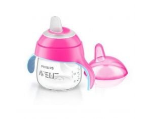 AVENT PHILIPS Tasse à Bec Magic Anti-fuites 200ml 6m+ Rose translucide