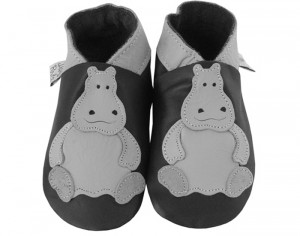 DAISYROOTS Chaussons en Cuir Hippopotame - Faits main en Angleterre