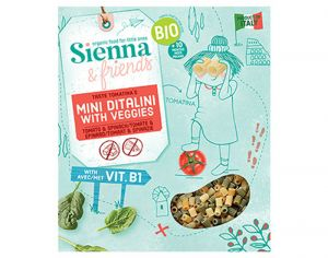SIENNA AND FRIENDS Mini Ditalini avec Veggies - 350 g - Dès 10 mois