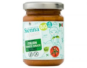 SIENNA AND FRIENDS Ma Première Sauce Tomate Italienne - 130 g - Dès 8 mois