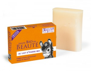 COSMO NATUREL Savon au Lait d'Anesse - Orange Lavande - 100 g