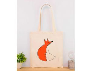 MARIE CHAROZE ILLUSTRATION & NATURE Tote Bag / Sac - Ecru Renard