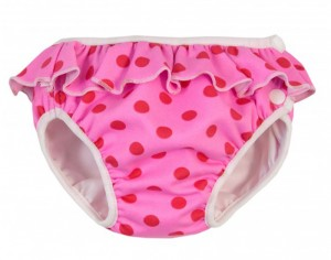 IMSEVIMSE Maillot Couche - Rose à Pois