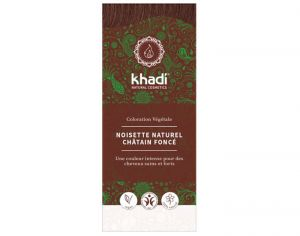 KHADI Coloration Naturelle aux Plantes - Noisette Naturel - 100 g