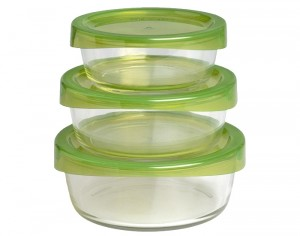 LUMINARC Keep'n Box - Contenants Alimentaires Ronds en Verre - Set de 3