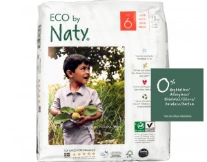 NATY Couches Jetables Eco 6 Extra Large +16Kg - Paquet de 18