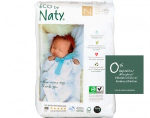NATY Couches Jetables Eco 0 Prema 1-4.5 Kg - Paquet de 26