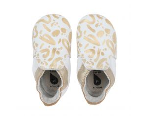 BOBUX Chaussons en cuir Bobux soft soles - Abstract gold S - 16-17