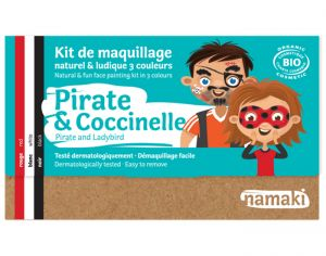 NAMAKI Kit de Maquillage 3 Couleurs - Pirate et Coccinelle