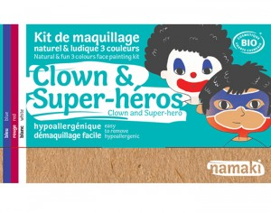 NAMAKI Kit de Maquillage 3 Couleurs - Clown et Super-héros