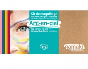 NAMAKI Kit de Maquillage 8 Couleurs - Arc-en-ciel