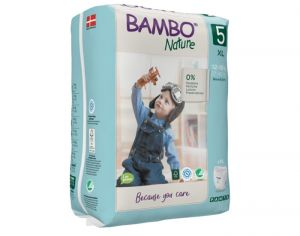 BAMBO NATURE Culottes d'Apprentissage Jetables 5 Junior 12-20Kg - Paquet de 20 Culottes