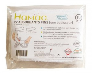HAMAC Absorbant Lavable - Lot de 2