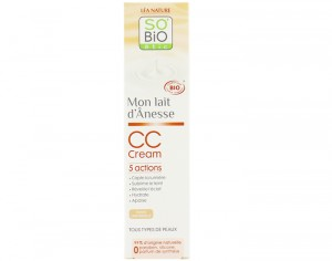 SO'BIO CC Cream au Lait d'Anesse - Teinte Abricotée - 40 ml
