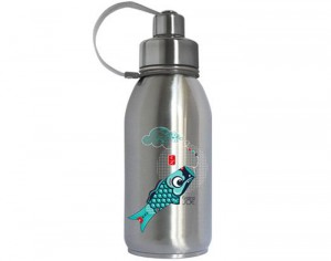 GASPAJOE Gourde Inox Isotherme Familiale Friendly - Poisson - 700 ml