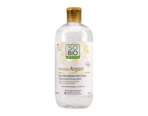 SO'BIO Eau Micellaire Anti-âge à l'Argan Bio - 500 ml