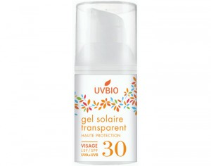 UVBIO Gel Solaire Visage Transparent SPF 30 - 30 ml