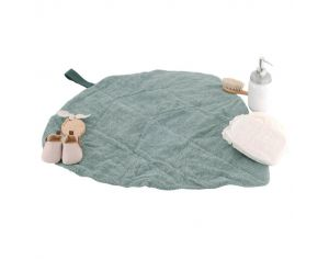 LITTLE CREVETTE Tapis A Langer De Voyage Feuille Dream Forest