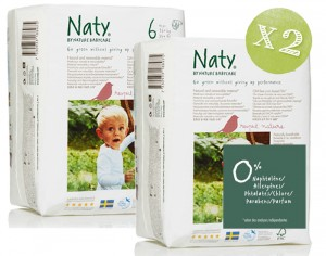 NATY Pack économique x2 - Couches Jetables Eco 6 Extra Large +16 Kg - 2 x 18 soit 36 couches
