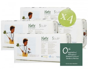 NATY Pack Economique x4 - Couches Jetables Eco 5 Junior+ 11-25 Kg - 4 x 42 soit 168 couches
