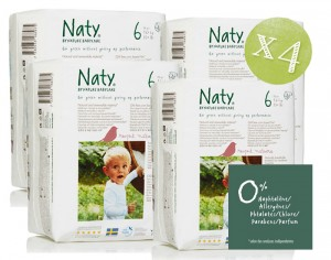 NATY Pack Economique x4 - Couches Jetables Eco 6 Extra Large +16 Kg - 4 x 18 soit 72 couches