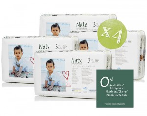 NATY Pack Economique x4 - Couches Jetables Eco