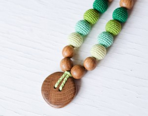 KANGAROO CARE Collier d'Allaitement et de Portage - All Shades of Green