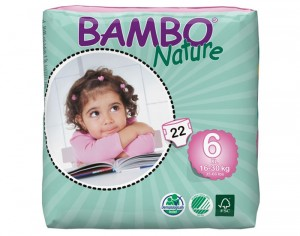 BAMBO NATURE Couches Jetables Éco T6 16 - 30 kg - 22 couches