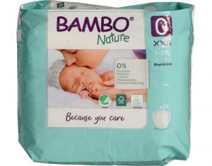 BAMBO NATURE Couches Écologiques Nature  T0 / 1-3 kg / 24 couches