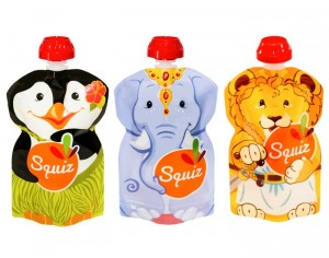 SQUIZ Gourde Souple Réutilisable 130 ml - Lot de 3