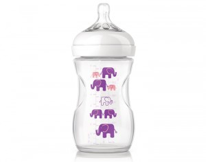 AVENT Biberon Natural Elephant Rose - 260 ml