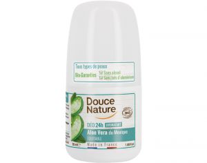 DOUCE NATURE Déodorant Bille Hydratant à l'Aloe Vera Équitable du Mexique - 50 ml