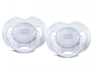 AVENT Sucettes Silicone - Lot de 2 - Transparent