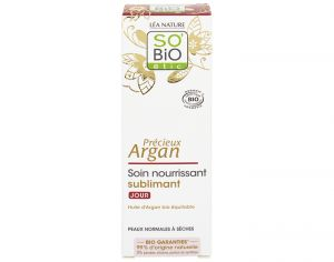 SO'BIO Soin Nourrissant Sublimant Jour Plaisirs d'Argan - 50 ml