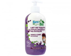 BORN to BIO Lait de Toilette Bébé - 500 ml