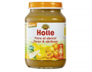 HOLLE Petit Pot de Fruits - 190 g Poire-Abricot - 4M