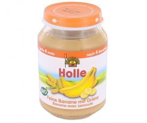 HOLLE Petit Pot de Fruits - 190 g Bananes - Semoule - 6M