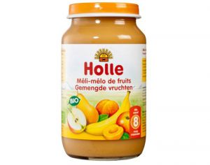 HOLLE Petit Pot de Fruits - 190 g Pomme - Banane - Abricot - 6M