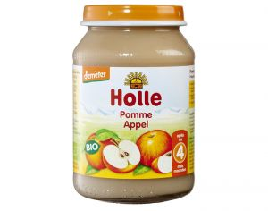 HOLLE Petit Pot de Fruits - 190 g Pommes douces - 4M