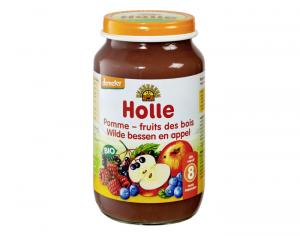 HOLLE Petit pot de Fruits - 220g Pomme-Fruits des Bois - 8M