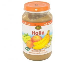 HOLLE Petit pot de Fruits - 220g Birchermuesli aux fruits - 8M