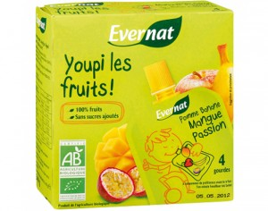 EVERNAT Youpi les Fruits Mangue Passion - 4 x 85g