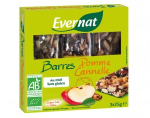 EVERNAT Barres Pomme Cannelle - 75g