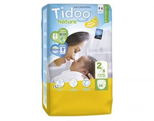 TIDOO Pack Eco Couches Jetables Ecologiques - x3 paquets Mini 3-6 kg - 174 couches