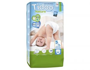 TIDOO Pack Eco Couches Jetables Ecologiques - x3 paquets Junior 12-25 kg - 138 couches